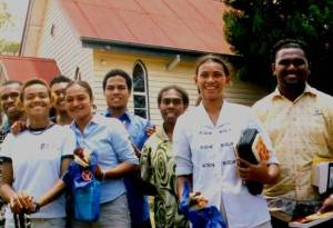 South Pacific mission team in Brisbane, now lawyers in Fiji and elsewhere
