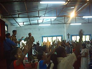 Worship at Hosanna Church in Kathmandu