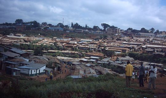 Part of Kiberra slum, Nairobi, Kenya
