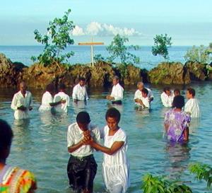 Pentecost Island, Vanuatu Ocean baptisms