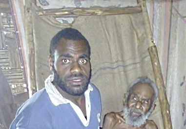 chief Morris with grandson Presley 2wks bef die 2